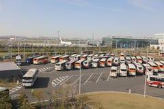 en dehors de l'aéroport international de Tokyo Haneda Image stock