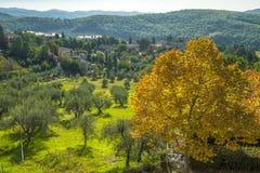 En dehors de la ville du chianti, la Toscane Italie Photographie stock