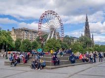En dehors du National Gallery écossais Image libre de droits