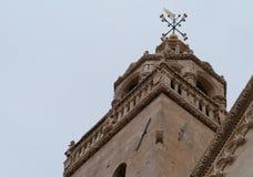 En dekorativ detalj av tornet av Sten Marco Royaltyfri Fotografi