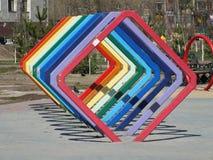 En dekorativ metallkonstruktion Arkivbild