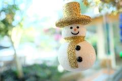 En dekorativ snögubbe Arkivbild