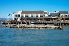 En del av den berömda pir 39 San Francisco Royaltyfria Foton