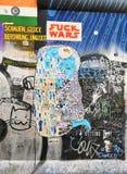 En del av den Berlin väggen royaltyfri bild