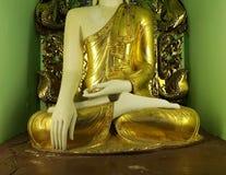 En del av den buddha statyn Royaltyfri Foto