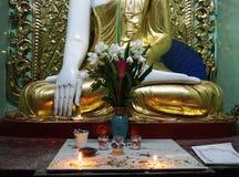 En del av den buddha statyn Royaltyfria Bilder