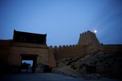 En del av den Jiayuguan staden Arkivfoton
