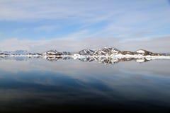En del av havet i Grönland Royaltyfria Bilder