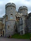En del av Windsor Castle. Arkivbild