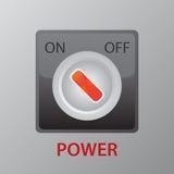 En del botón del control Foto de archivo