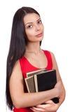 En deltagare med böcker Royaltyfria Foton