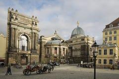 En der Frauenkirche i Dresden Arkivbild