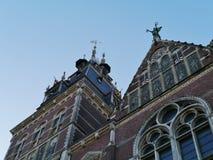 En detalj av Rijsmuseumen i Amsterdam Oud Zuid Royaltyfri Bild
