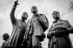 En Detroit staty i dagsljus royaltyfria bilder