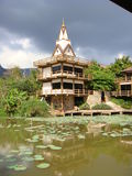 En Dhamma reträtt på PA-sonen Kaew Royaltyfri Foto
