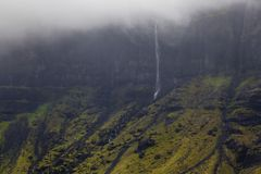 En dimmig dag i Island royaltyfri fotografi