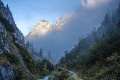 En dimmig eftermiddag Arkivfoton