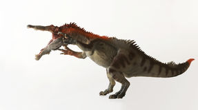 En dinosaurie som namnges Baryonyx, menande tung jordluckrare royaltyfri foto