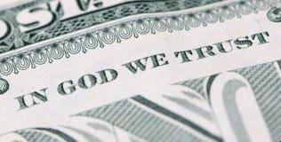 En dios confiamos en Imagen de archivo libre de regalías