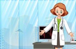 En doktor i modernt sjukhus Royaltyfri Bild