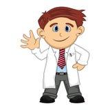 En doktor som ler tecknade filmen royaltyfri illustrationer