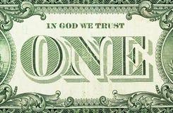 En dollar Royaltyfri Fotografi
