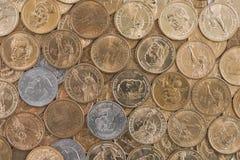 En dollar myntar Royaltyfri Bild