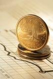 En dollar på diagram Arkivbild