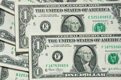 En-dollar räkning Arkivfoto