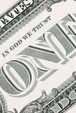En dollarsedeldetalj, lodlinje Royaltyfria Bilder