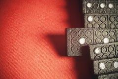 En dominobricka Fotografering för Bildbyråer