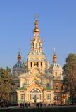 En domkyrka av helgonuppstigningen till Alma-Ata Royaltyfria Bilder