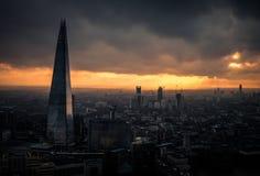 En dramatisk sikt av Brexiten klara London Fotografering för Bildbyråer