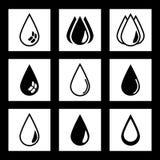 En droppe av vatten, olja Arkivfoto