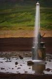 En dusch in i tunn luft Arkivbilder