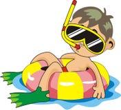 en dyk för pojkekläderdräkter Royaltyfri Foto
