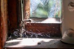 En dyster blick ut fönstret royaltyfri fotografi