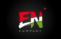 EN E N alphabet letter logo combination icon alphabet design Stock Image