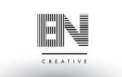 EN E N Black and White Lines Letter Logo Design. Royalty Free Stock Photography