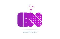 En e n pink dots letter logo alphabet icon Royalty Free Stock Photography