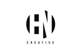 EN E N White Letter Logo Design with Circle Background. Stock Photos