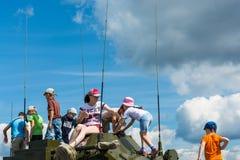 """En el †militar-patriótico """"2015 del cielo abierto del festival Imagen de archivo"""