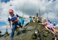 """En el †militar-patriótico """"2015 del cielo abierto del festival Imagenes de archivo"""