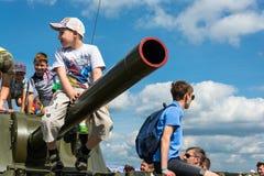 """En el †militar-patriótico """"2015 del cielo abierto del festival Fotos de archivo libres de regalías"""