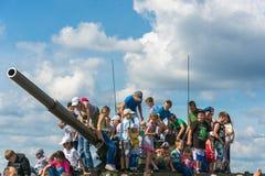 """En el †militar-patriótico """"2015 del cielo abierto del festival Imagen de archivo libre de regalías"""