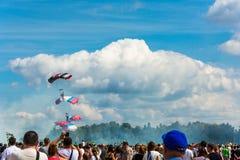 """En el †militar-patriótico """"2015 del cielo abierto del festival Fotografía de archivo libre de regalías"""