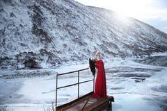 En el banco del lago del hielo Fotos de archivo