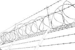 en el barbwire de Omán en cielo Foto de archivo