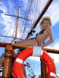 En el barco imagenes de archivo