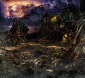 En el bosque oscuro stock de ilustración